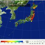 ここ一週間の地震です。