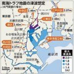 南海トラフ地震で、東京23区で液状化の恐れ